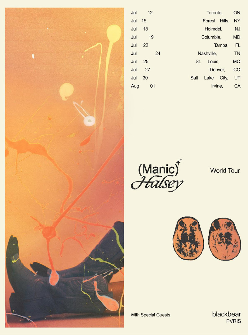 halsey manic world tour dates tickets Halsey announces North American Manic Tour, CHVRCHES to open