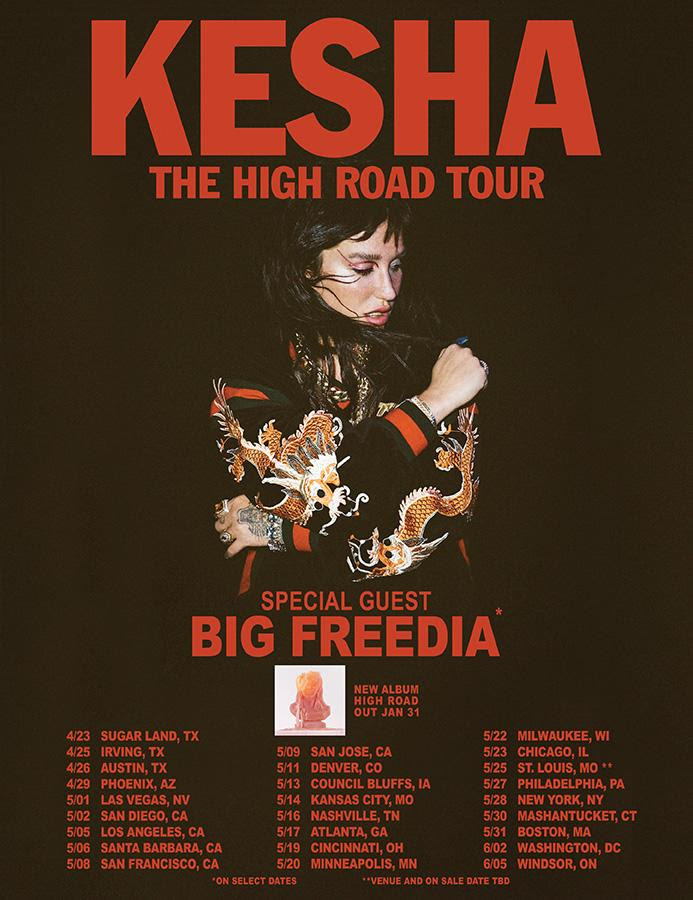 kesha the high road tour poster big freedia tickets