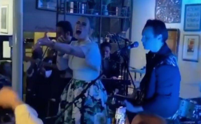 Adele sings at friend's wedding