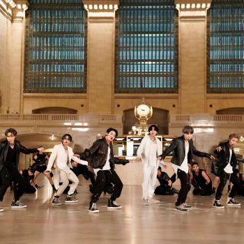 BTS perform at Grand Central Station
