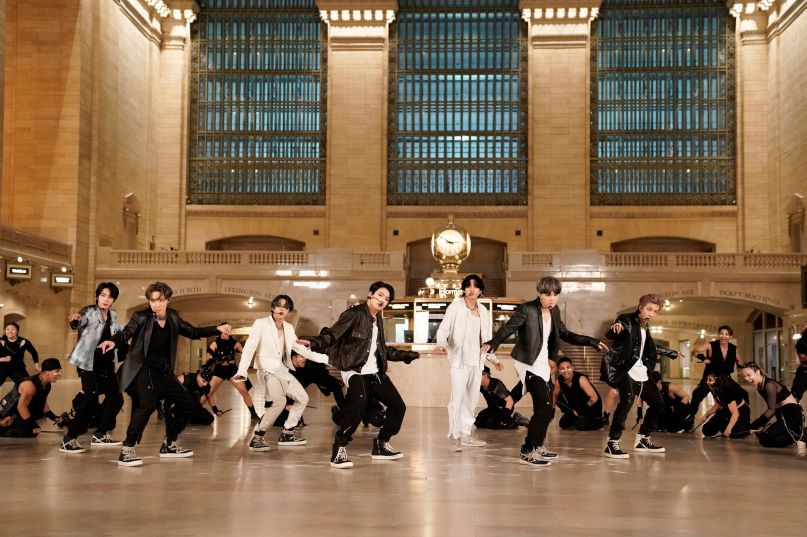 BTS perform at Grand Central Station