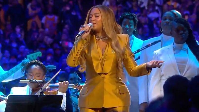 Beyonce Kobe Bryant Memorial Celebration performance xo halo