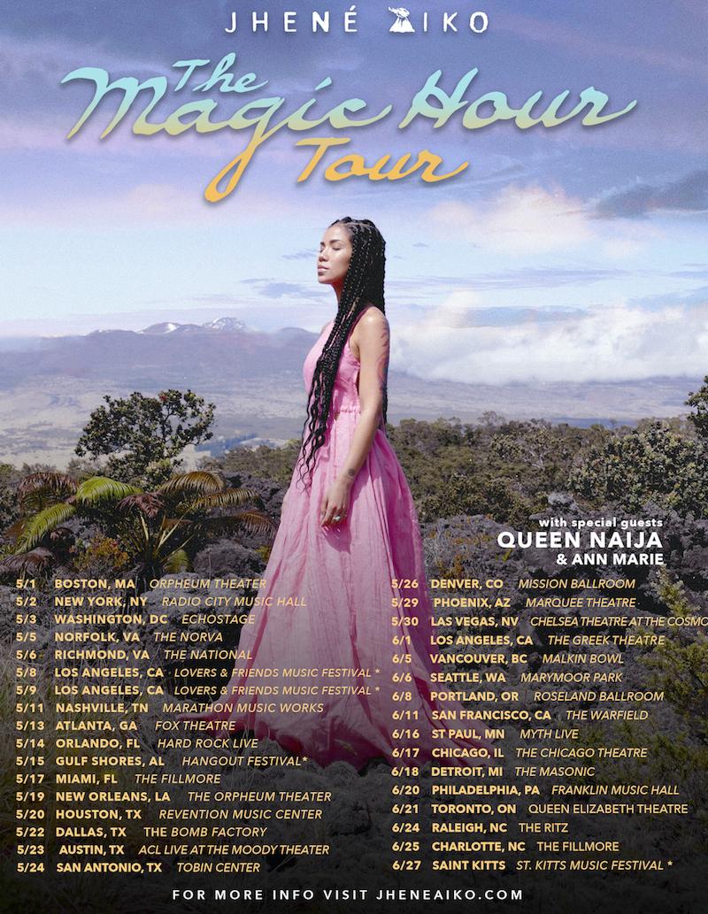 Jhene Aiko Tour Dates