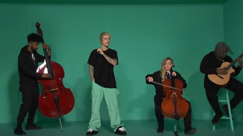 Justin Bieber performs on SNL