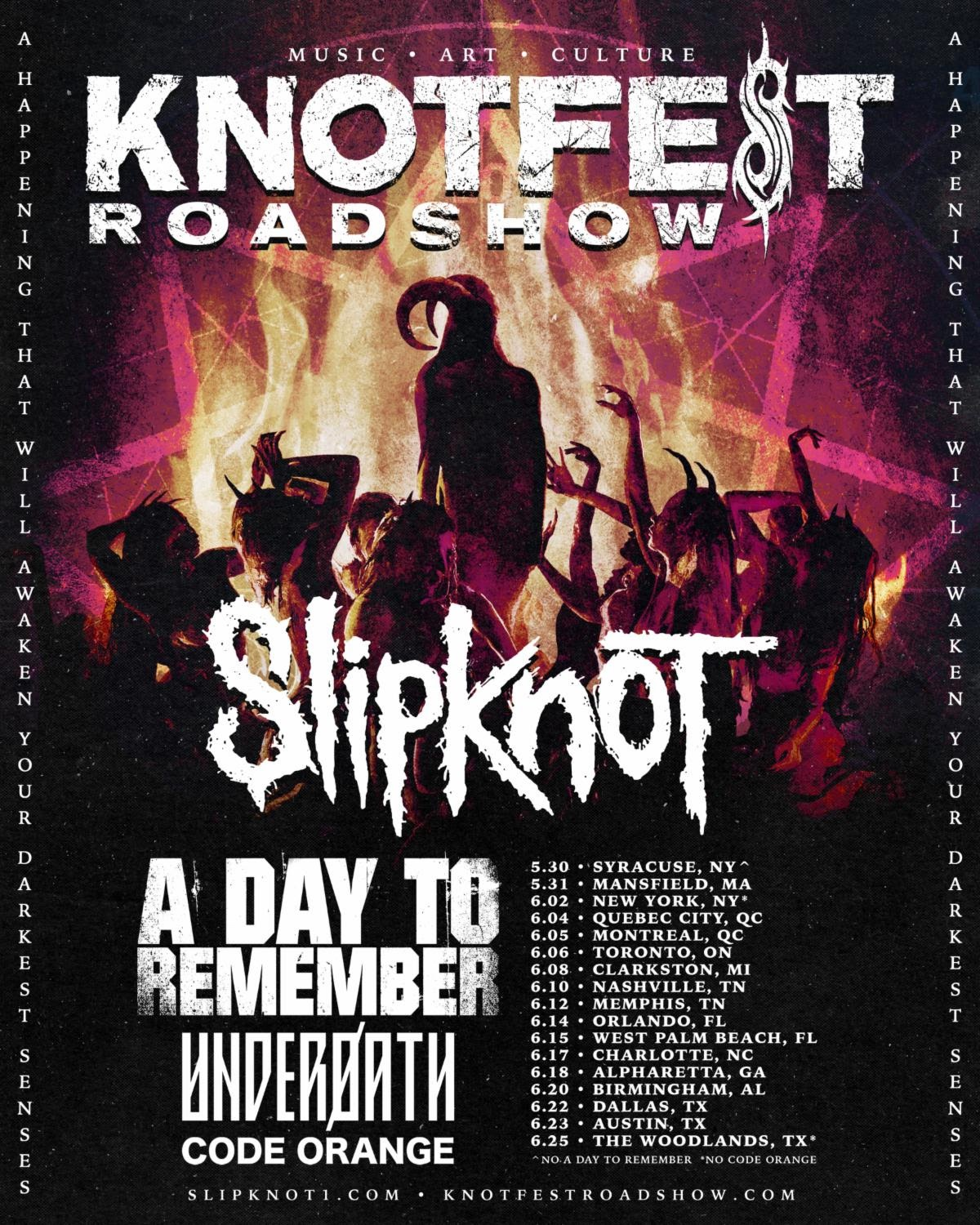 Knotfest Roadshow 2020 Poster