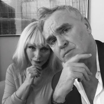 Morrissey with Blondie's Debbie Harry, photo via Twitter