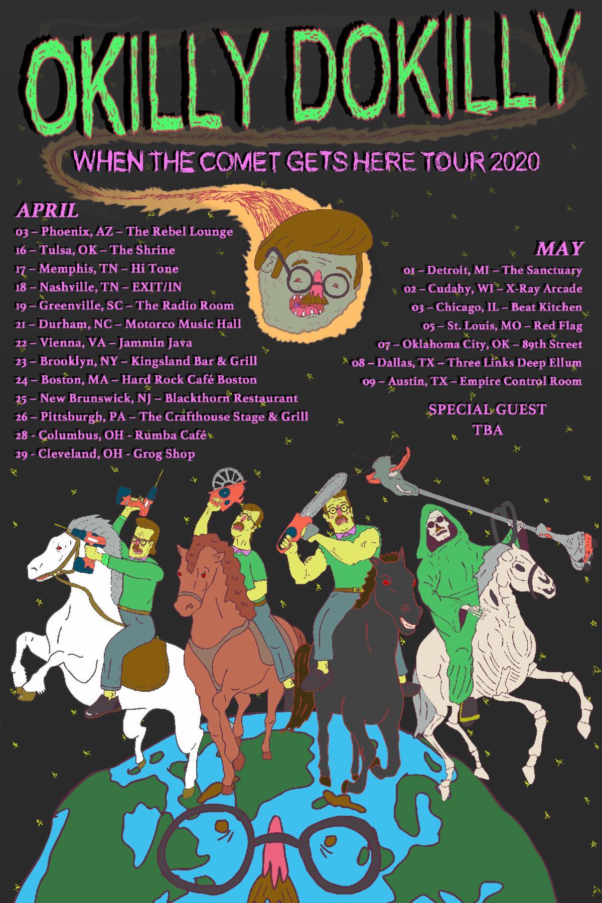 Okilly Dokilly Tour poster