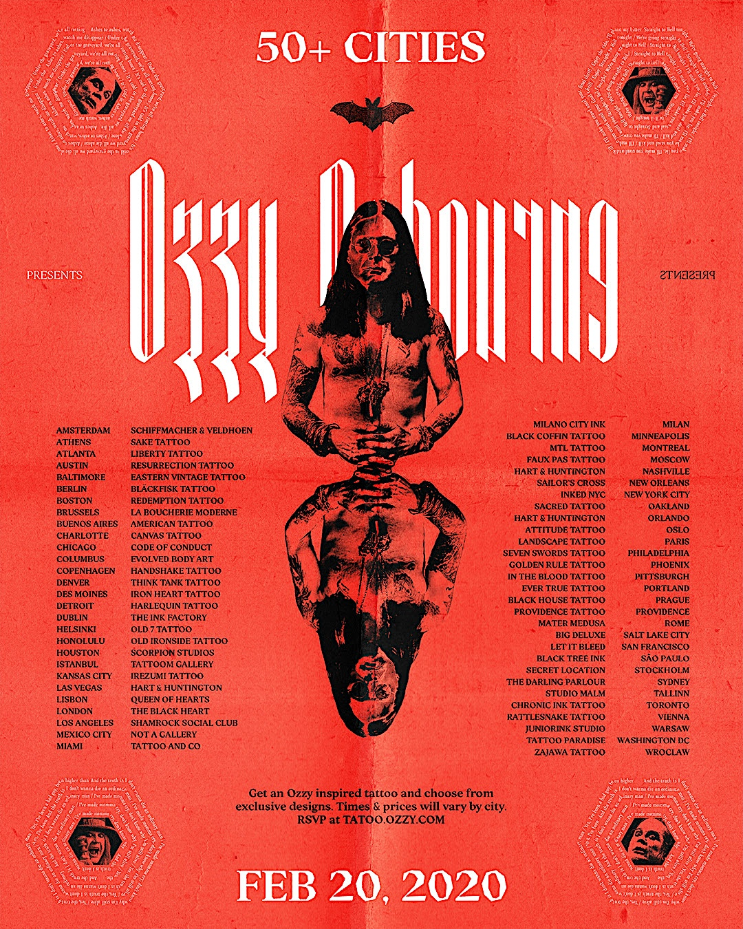 Ozzy Tattoo event poster