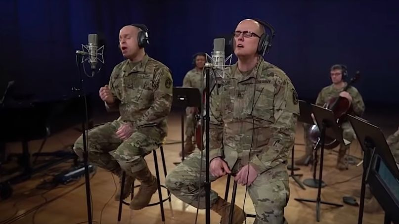 "US Army Band ""Pershing's Own"" performs Rush's ""Time Stand Still"""