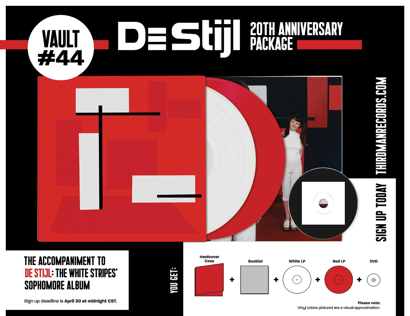 White Stripes De Stijl 20th anniversary