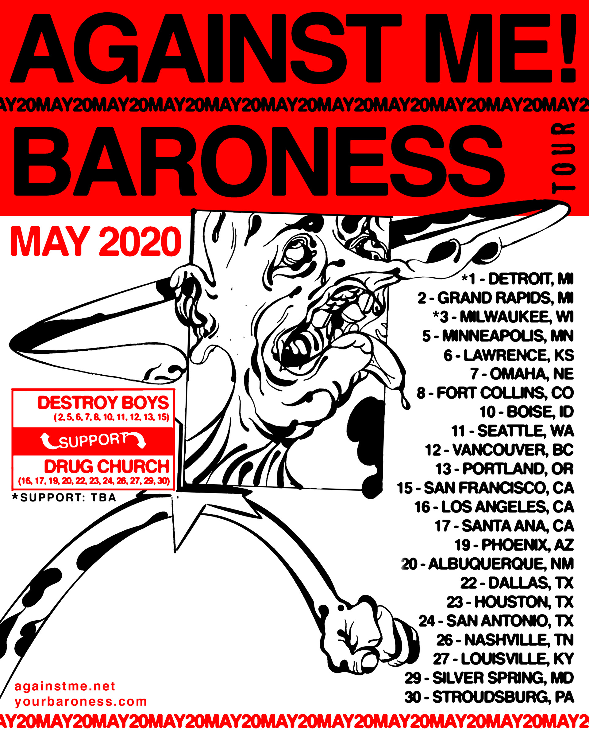 against me baroness tour