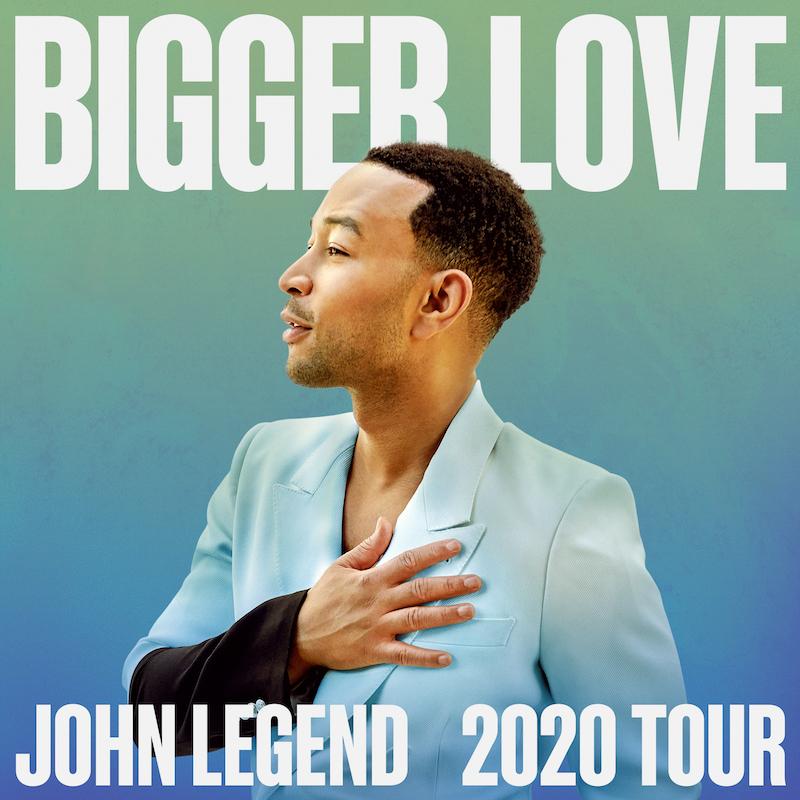 john legend bigger love tour dates tickets John Legend announces Bigger Love 2020 Tour