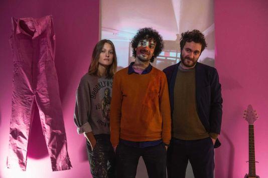 machinegum's Erin Victoria Axtell, Fab Moretti, and Joseph Vescio, photo by Ben Kaye