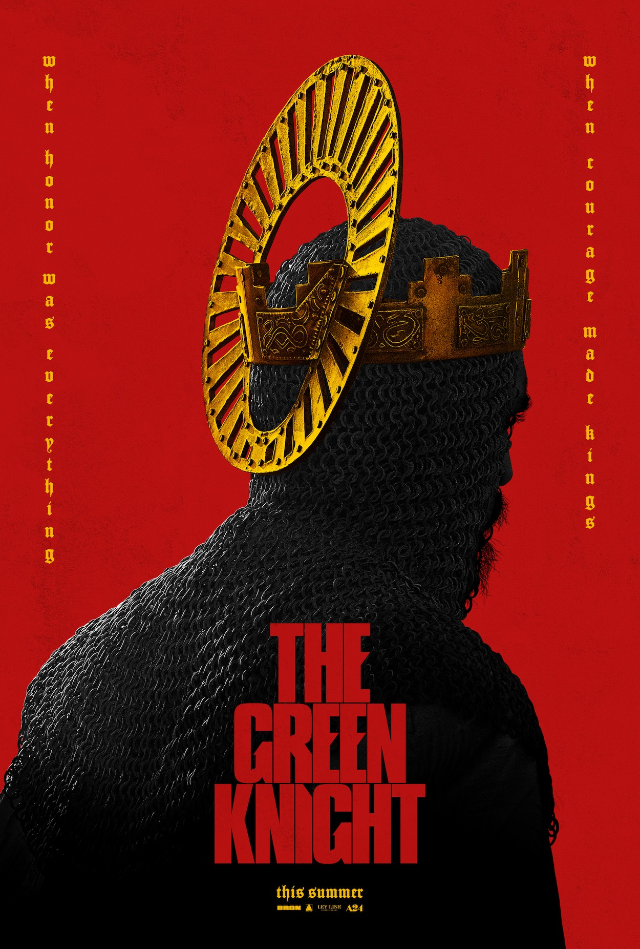 the green knight poster The Green Knight Trailer Shows Dev Patel as a Knight of the Round Table: Watch