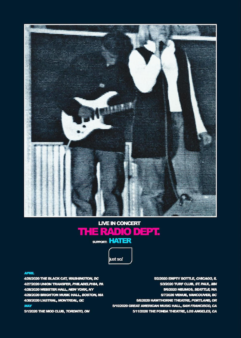 the radio dept tour dates poster The Radio Dept. announce North American tour, share The Absence of Birds: Stream