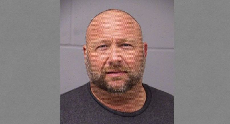 Alex Jones mugshot