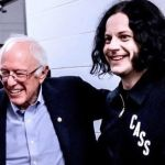 Bernie Sanders with Jack White, photo by Bryan Giradinelli
