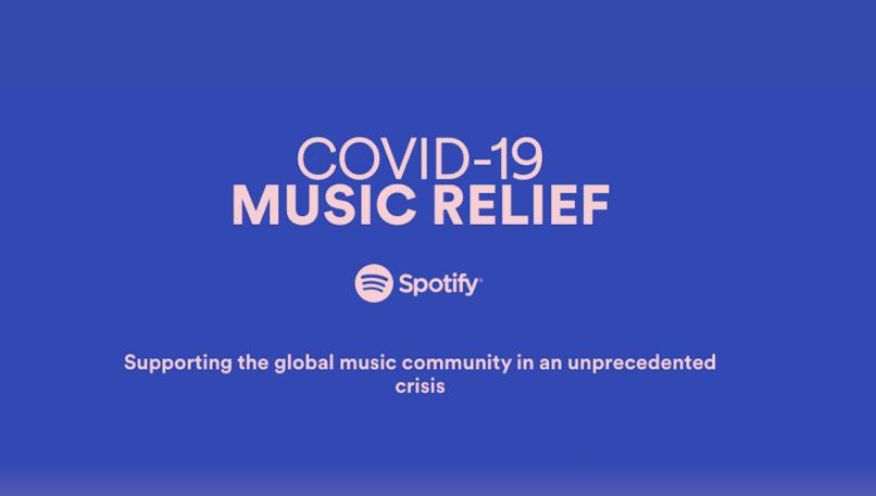 Coronavirus Spotify Musician Relief $20 Million