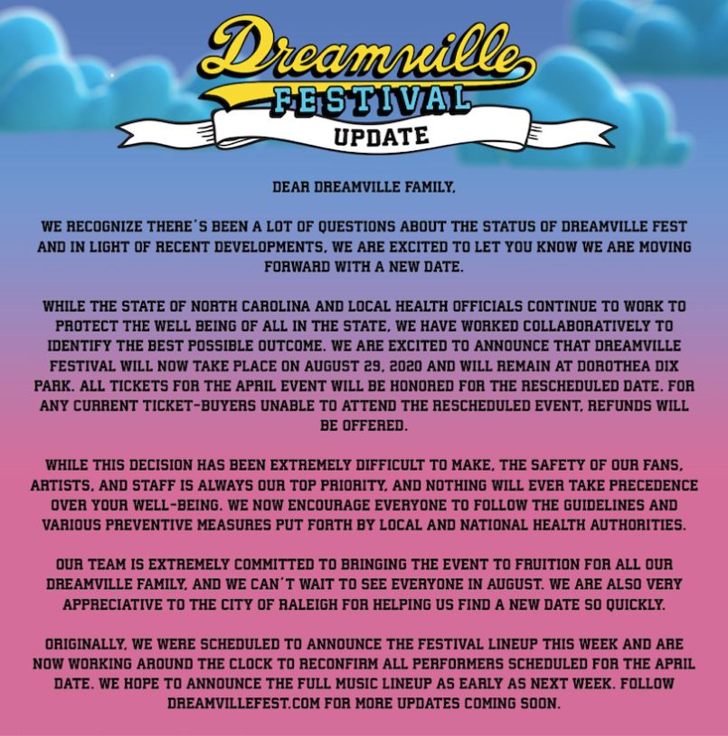 Dreamville Postponed J. Coles Dreamville Festival Postponed Due to Coronavirus