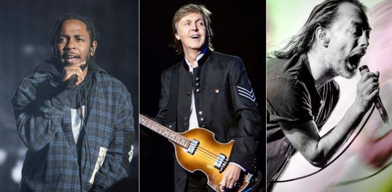 Kendrick Lamar (Amy Price), Paul McCartney (MJ Kim), and Thom Yorke (Autumn Andel) to play Glastonbury 2020