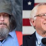 Jeff Mangum and Bernie Sanders, photo via Getty