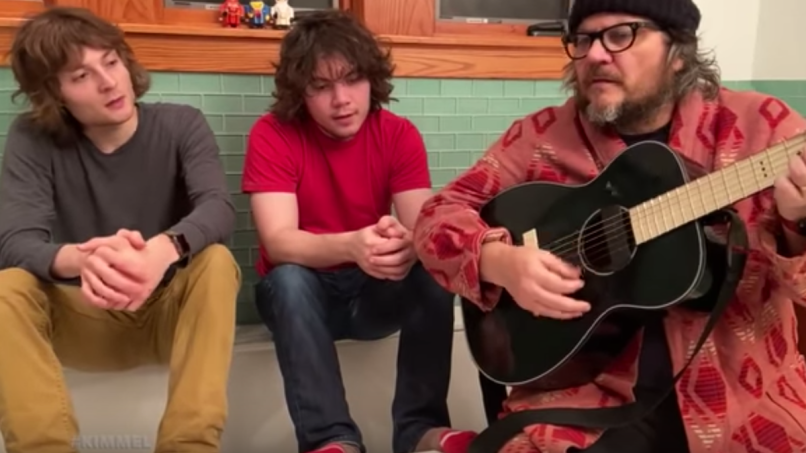 Jeff Tweedy Spencer Sammy Live from the Lavatory Jimmy Kimmel live evergreen