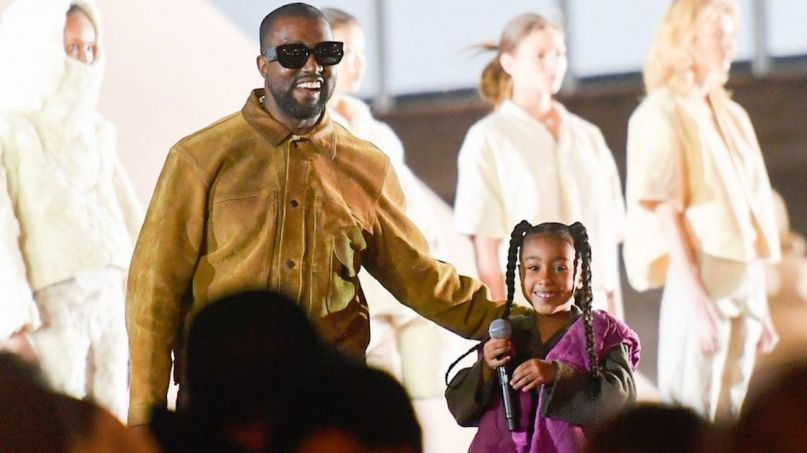 Kanye and North West rap Yeezy Fashion Show season 8 Kim Kardashian