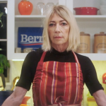 Kim Gordon Bernie Sanders PSA Cake Super Tuesday