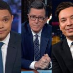 Late Show Stephen Colbert Tonight Show Jimmy Fallon Daily Show Trevor Noah Coronavirus audiences