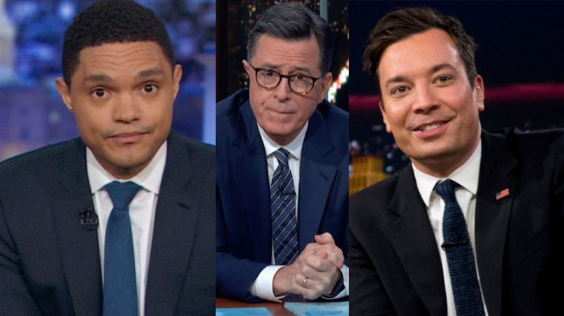 Late Show Stephen Colbert Tonight Show Jimmy Fallon Daily Show Trevor Noah Coronavirus audiences