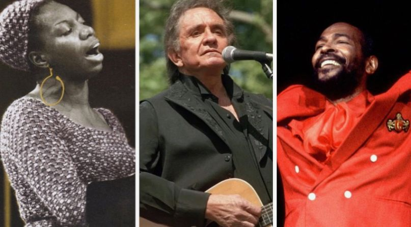 Nina Simone, Johnny Cash, and Marvin Gaye