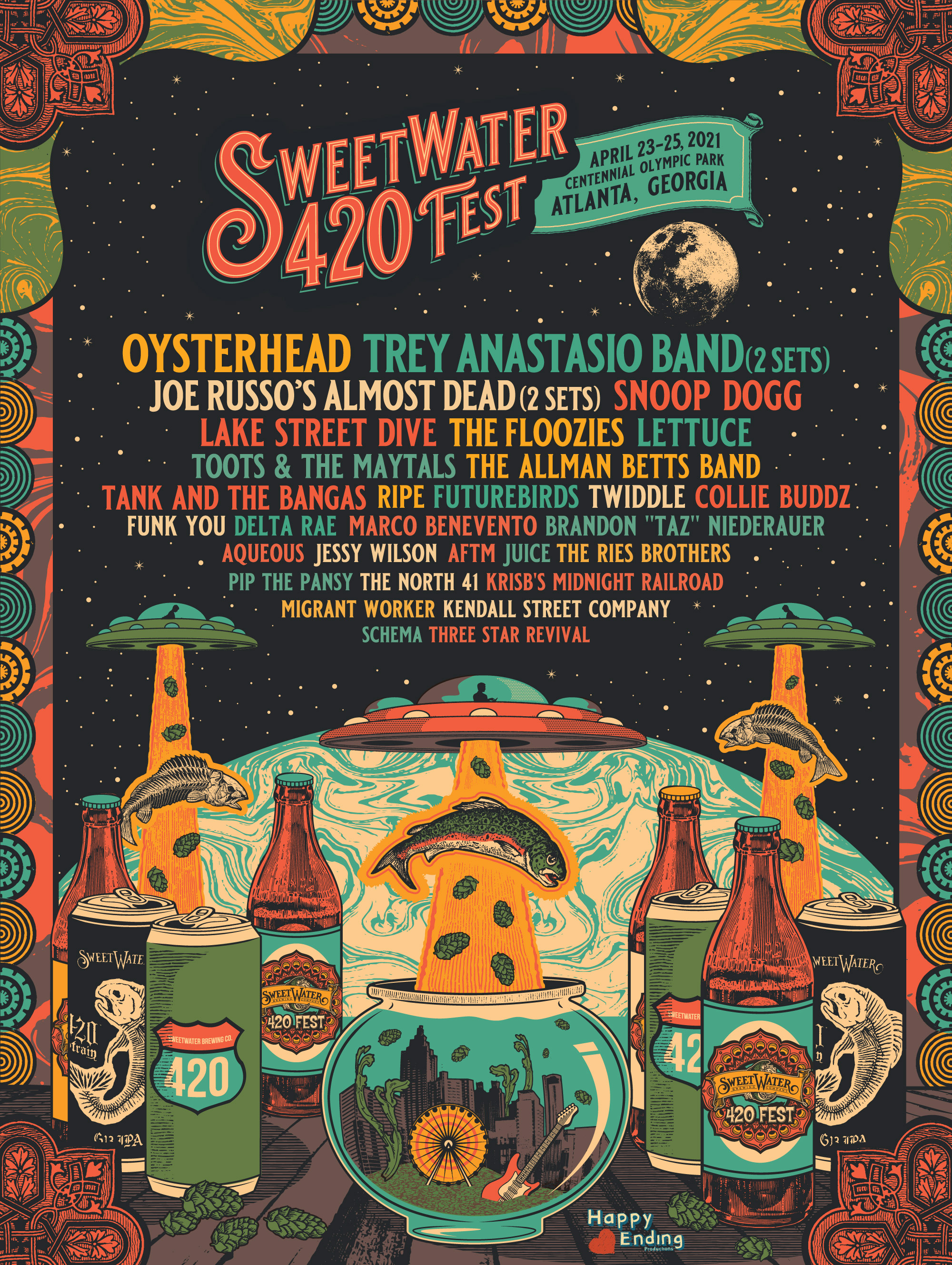 SweetWater 420 Fest 2021 lineup