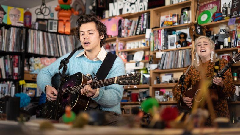 harry styles npr tiny desk concert fine line Photo by Max Posner - NPR watch