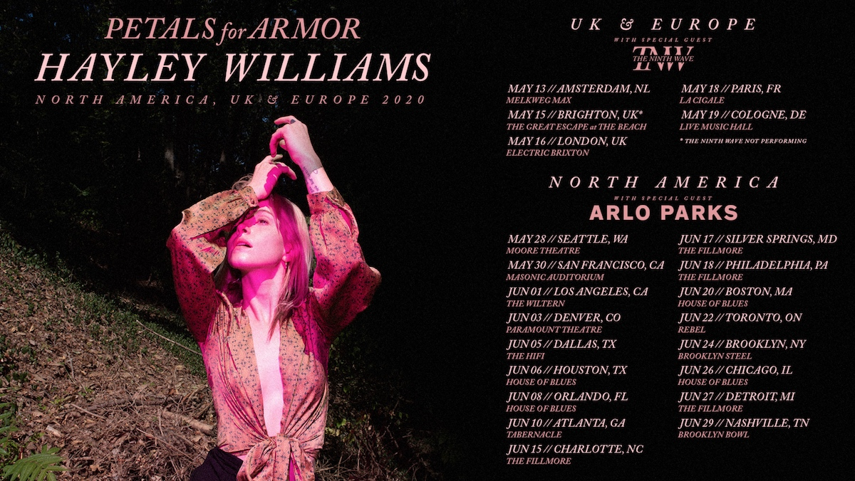 hayley williams tour dates