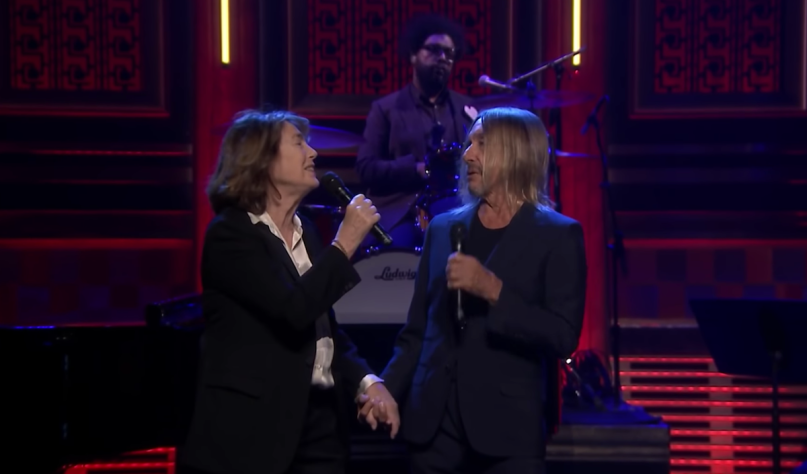 jane birkin iggy pop fallon video performance