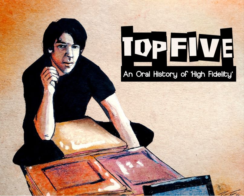 Top Five: An Oral History of High Fidelity, artwork by Noelle Garcia