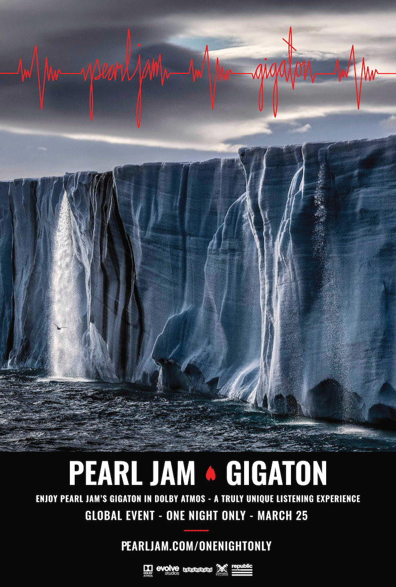 pearl jam gigaton album listening session premiere Pearl Jam Announce Gigaton Global Listening Events