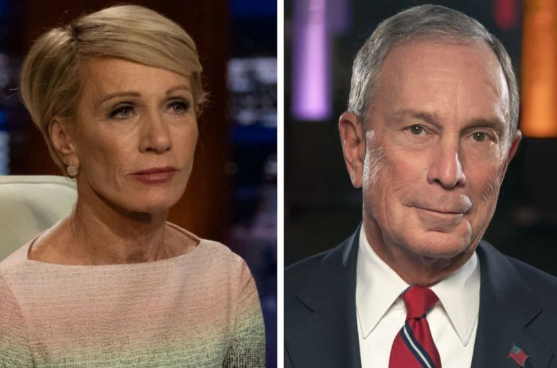 shark tank host corcoran bloomberg endorsement 2020 election