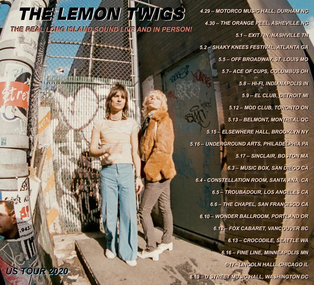 Lemon Twigs tour post spring 2020 songs for the general public