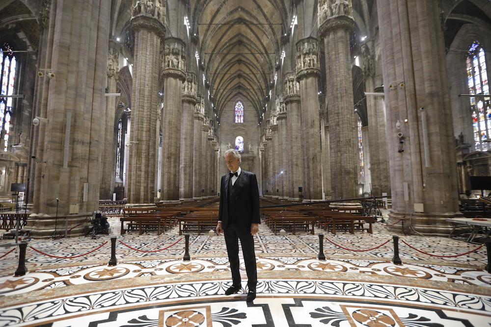 Bocelli Duomo 1 credit LUCA ROSSETTI COURTESY SUGAR SRL DECCA RECORDS Andrea Bocelli Releases Full Easter Sunday Concert Video: Watch