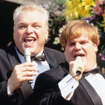 Brian Dennehy (left) in Tommy Boy