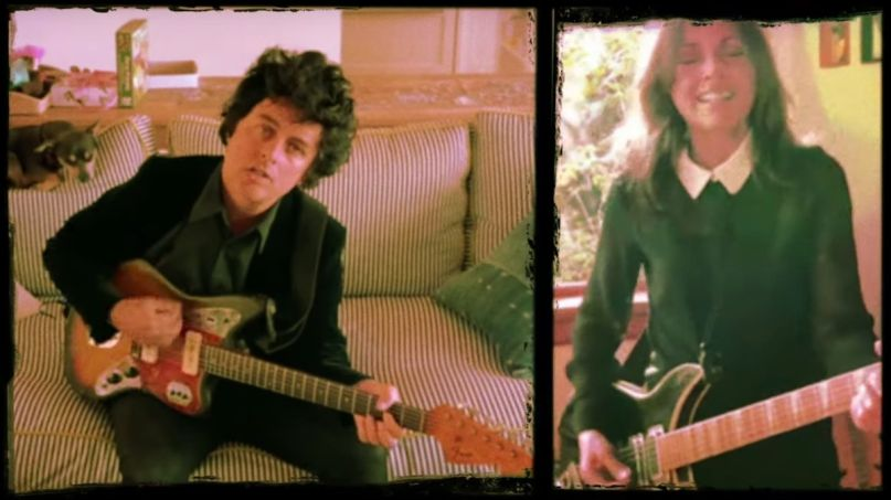 Green Day's Billie Joe Armstrong and The Bangles' Susanna Hoffs Manic Monday cover song quarantine