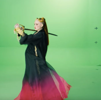 Grimes You'll Miss Me When I'm Not Around Green Screen Music Video