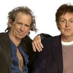 Keith Richards with Paul McCartney