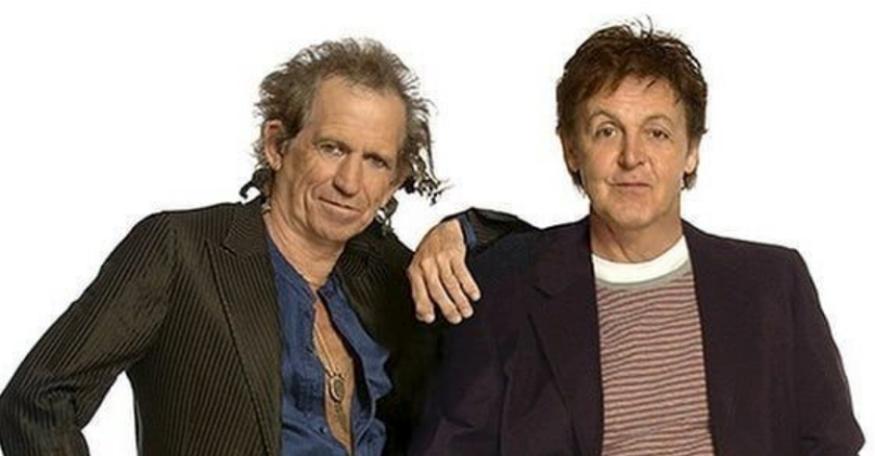 Keith Richards with Paul McCartney