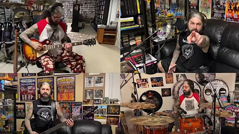 Mike Portnoy covers the Ramones in Quarantine