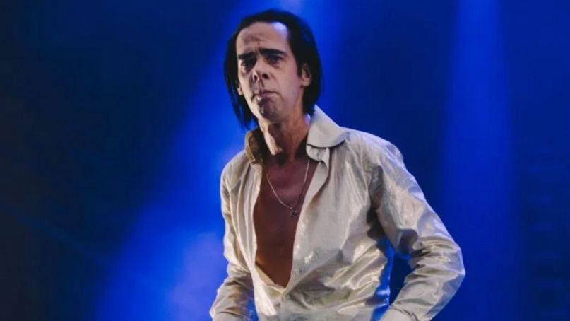 Nick Cave livestream bad seed teevee youtube stream video, photo by Ellie Pritts