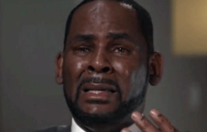 R Kelly crying