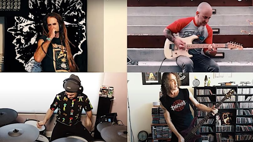 Randy Blythe and Anthrax members cover Discharge