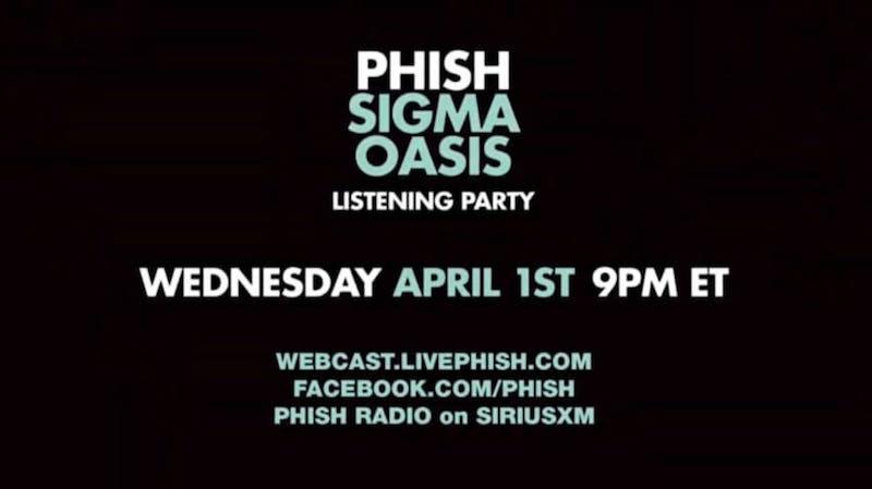 phish sigma oasis new album debut stream Phish to Debut New Album Sigma Oasis During Livestream Tonight